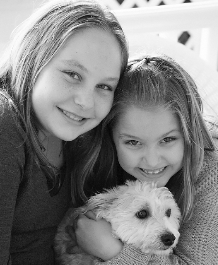 Haley and Audrey, almost 12 and 7 years old