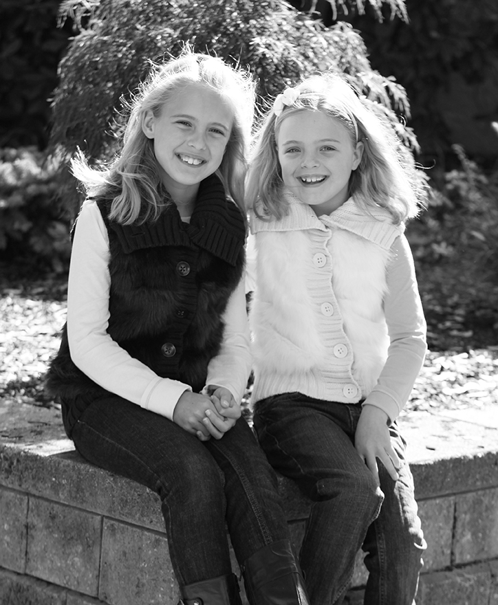Abby and Emma, 9 and 7 years old