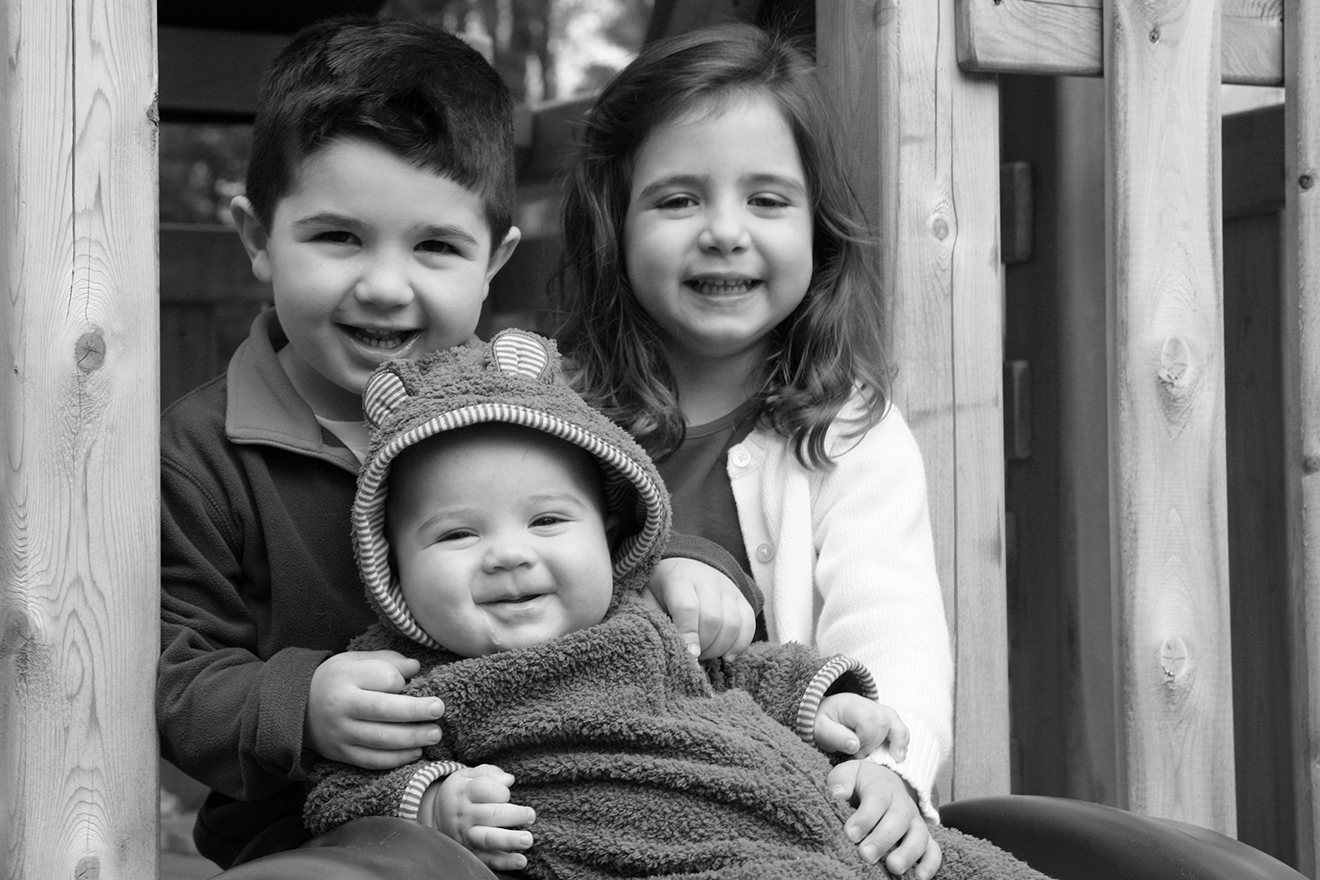 Caroline, Will and Sam, 4 & 3 yrs and 5 months old