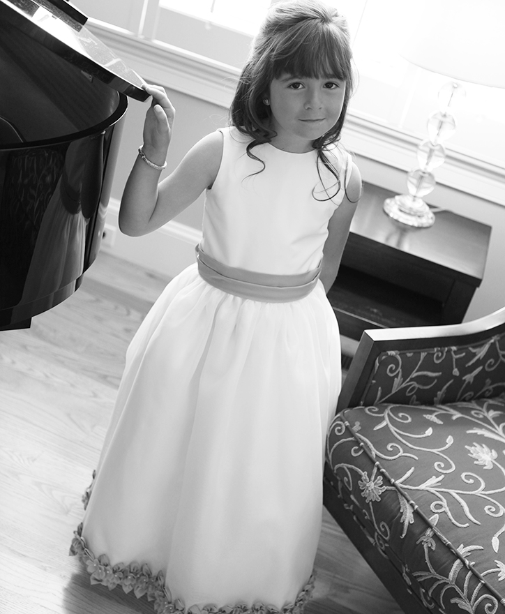 Anna at her first communion, 8 years old