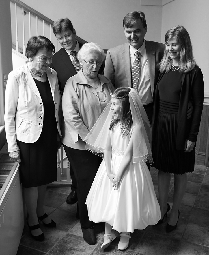 Natalie's first communion, 8 years old