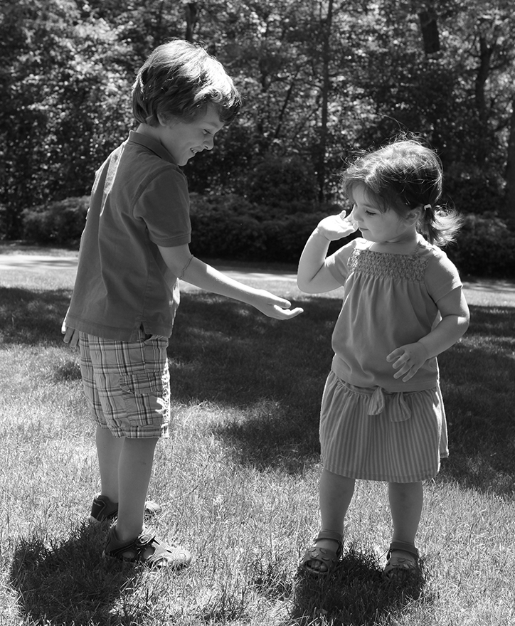 Dylan and Sabrina, 4 1/2 and 2 years old
