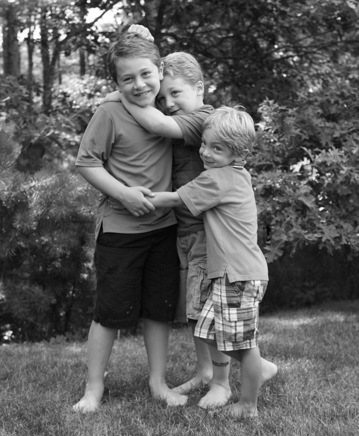 Jake, Luke and Zack, 8, 6 and 3 years old